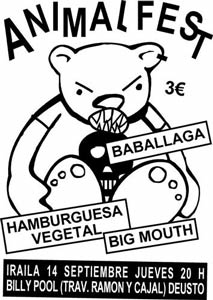 FESTIVAL ANIMAL: BABALLAGA + HAMBURGUESA VEGETAL + BIG MOUTH